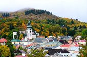 stock photo of banska  - Autumn in historical Banska Stiavnica - JPG