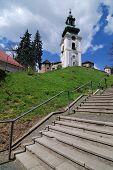 stock photo of banska  - Old castle in Banska Stiavnica - JPG