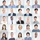 Group of Multi-ethnic Diverse Business People poster