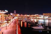 Sydney darling Harbour in der Nacht, Australien