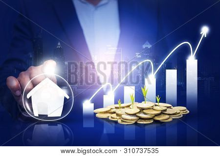 poster of Hands Protecting Business And Security Investment As Real Estate Investment,property Funds, Finance