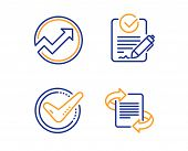 Confirmed, Audit And Rfp Icons Simple Set. Marketing Sign. Accepted Message, Arrow Graph, Request Fo poster