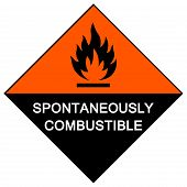 Spontaneously Combustible Symbol Sign Isolate On White Background,vector Illustration Eps.10 poster