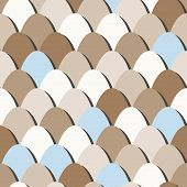 pic of duck egg blue  - seamless pattern of assorted eggs with clipping mask - JPG