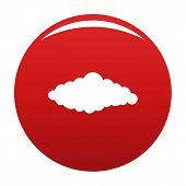 Fluffy Cloud Icon. Simple Illustration Of Fluffy Book Vector Icon For Any Design Red poster