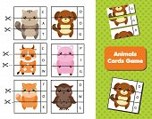 Animals Flash Cards. Words And Vocabulary Educational Children Game. Material For Kids And Toddlers poster