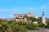 View Of Buda Castle, The Historic Royal Palace In Budapest, Hungary. poster