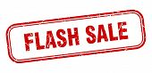 Flash Sale Stamp. Flash Sale Square Grunge Sign. Flash Sale poster