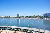 Coastline Costa Dorada, Salou, Spain. A Panoramic View Of The Coastline Of Salou And Its Main Beach, poster