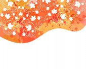 Watercolor Vector Autumn Abstract Background. Watercolor Splash Background With Leaves. Watercolor I poster