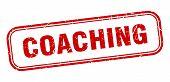 Coaching Stamp. Coaching Square Grunge Sign. Coaching poster