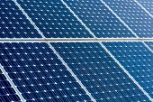 Clean Energy Photovoltaic Panels, Detail Of Solar Panels, Alternative Electricity Source poster