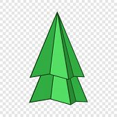 Origami Fir Tree Icon. Cartoon Illustration Of Origami Fir Tree Vector Icon For Web Design poster