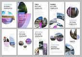 Social Networks Stories Design, Vertical Banner Or Flyer Templates With With Colorful Circle Element poster