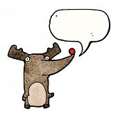 stock photo of rudolf  - cartoon funny reindeer - JPG