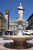 Ancient Fountain With The Madonna Verona