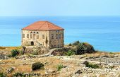 stock photo of crusader  - The remains of a traditional Lebanese house at the ancient and historical site of the Crusaders - JPG