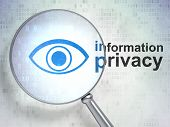 Safety concept: Eye and Information Privacy with optical glass