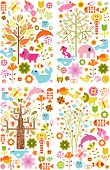 pic of baby spider  - 4 sets of Abstract Floral Design Elements - JPG