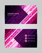 Vector abstract creative business card design template. Technology background.