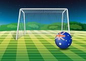 Illustration of a soccer ball from Australia