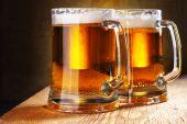 foto of beer mug  - Two beer mugs close - JPG