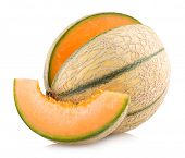 picture of cantaloupe  - cantaloupe melon - JPG