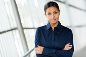beautiful businesswoman portrait with arms folded