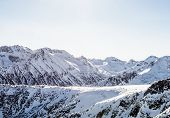 image of gory  - Winter landscape of mountains covered snegom - JPG