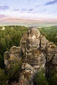 stock photo of bohemian  - Beautiful rocks in Bohemian Paradise - JPG