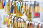 picture of lost love  - Lockers at the bridge symbolize love for ever - JPG