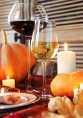 picture of thanksgiving  - Autumn place setting - JPG
