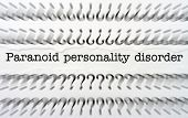 stock photo of personality  - Close up of Paranoid personality disorder text - JPG