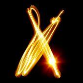 pic of cursive  - X  - JPG