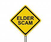 Постер, плакат: Elder Scam Warning Sign