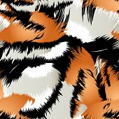 picture of tigers  - Wild tiger stripes in a seamless pattern  - JPG
