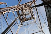 stock photo of oil rig  - Winter Drilling Rig in East Siberia oilfield - JPG