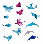 foto of transformation  - Origami abstract background - JPG