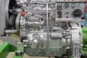 picture of outboard engine  - Powerful diesel engine for agricultural works machine - JPG