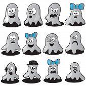 stock photo of funny ghost  - Halloween set  - JPG