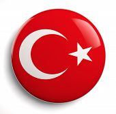 picture of path  - Turkey flag icon isolated on white - JPG