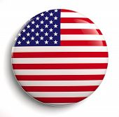 image of lapel  - USA flag icon isolated on white - JPG