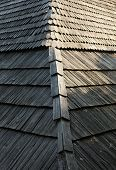 pic of shingles  - Old wooden shingle roof with rich texture - JPG