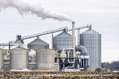 image of ethanol  - Ethanol Refinery in the rural American Midwest