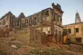 stock photo of religious  - Old ruined religious building in Bithoor - JPG