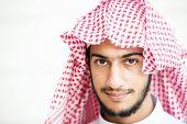 foto of muslim man  - Portrait of Arabic young man - JPG
