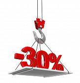 pic of crane hook  - Percent On Crane Hook - JPG