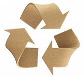 stock photo of environmentally friendly  - Recycle environmental recycled paper symbol sign isolated - JPG