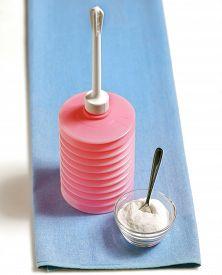 stock photo of douche  - Vaginal irrigator set and bicarbonate - JPG