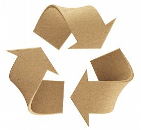 picture of environmentally friendly  - Recycle environmental recycled paper symbol sign isolated - JPG